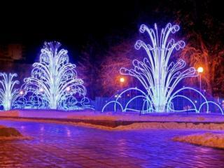 обои Новогодние фонтаны фото