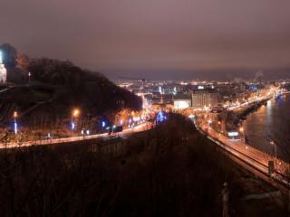 обои Ночной Киев фото