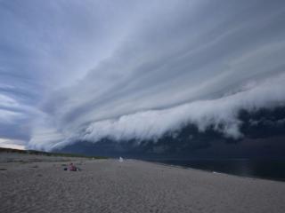 обои Фронтовые облака,   США фото