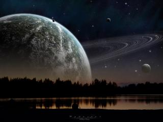 обои Планета с кольцами фото