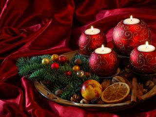 обои Блюдо со свечами фото