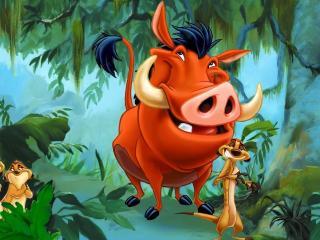 обои Тимон и Пумба в джунглях фото