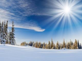 обои Холодное зимнее солнце фото