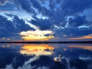 обои Синий закат фото