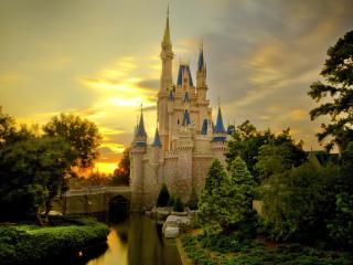 обои Дворец на закате дня фото