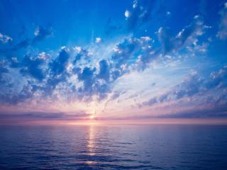 обои Голубое небо и море фото