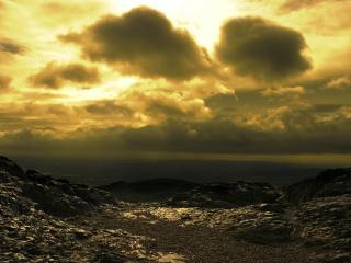 обои Небо темнеет у горизонта фото