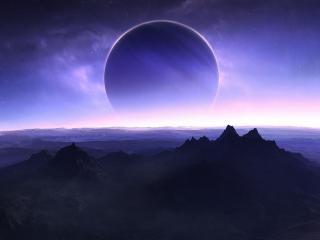 обои для рабочего стола: Восход огромной планеты