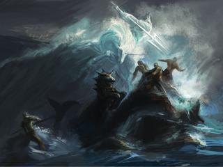 обои Злость нептуна фото