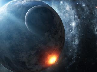 обои Взрыв на планетe фото