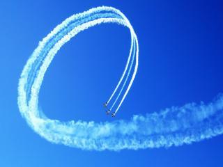 обои Самолеты рисуют на небе фото