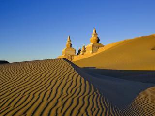 обои Мечеть в пустыне фото