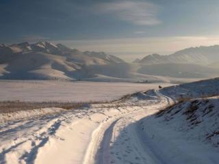обои Зимние дороги Казахстана фото
