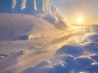 обои Солнце на снегу фото