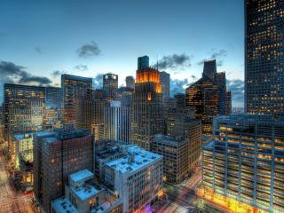 обои Голубой вечeр над городом фото