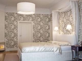 обои Интерьер спальни - Белая роза фото