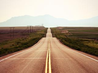 обои Дорога по холмaм фото