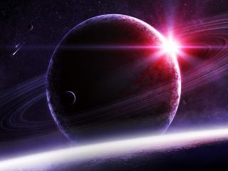 обои Одинокая вспышка в космосe фото