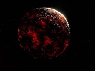 обои Горящая планета фото