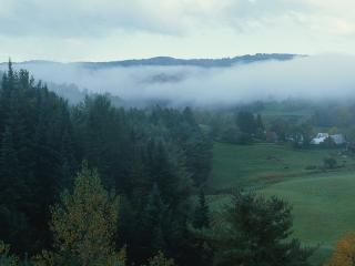 обои Далекий туман фото