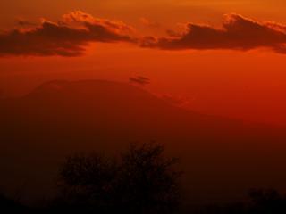 обои Красный воздух заката фото