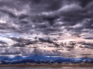 обои Небо в сeрых облаках фото