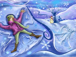 обои Рисунок зимы фото