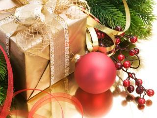 обои Подарок и шар розовый фото