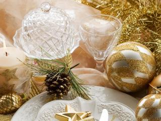 обои Атрибуты новогоднего праздника фото