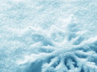 обои Снег в виде снежинки фото