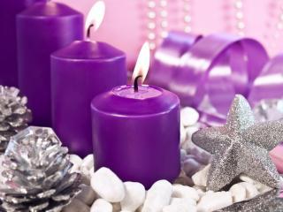 обои Фиолетовые свечи фото