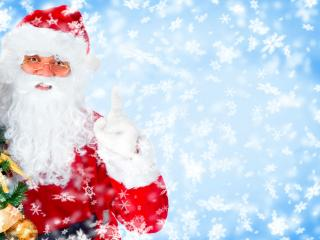 обои Веселый Дед Мороз в очках фото