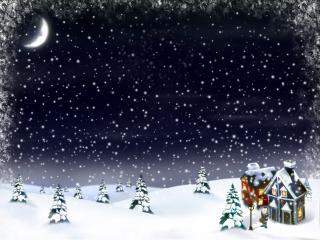 обои Вечер перед новым годом фото