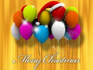 обои Воздушные,   новогодние шарики фото