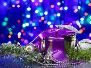 обои Новогодний подарок в оформлении фото