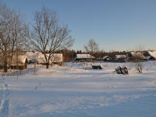 обои Зимняя деревенька фото