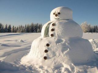 обои Снеговик с шарфом фото