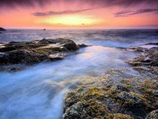обои Рассвет над морем фото