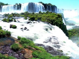обои Панорама с водопадами фото