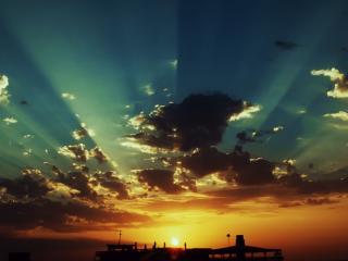 обои Уход солнца за горизонт фото
