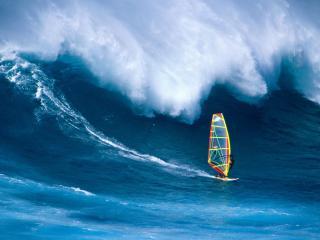 обои Большая волна в серфинге фото