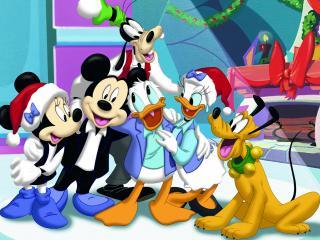 обои Микки Маус с друзьями фото