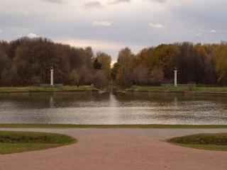 обои Осенний пруд в паркe фото