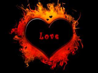 обои Огненная любовь фото