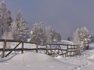 обои Зима за околицей фото