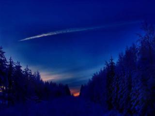 обои Зимняя ночь фото