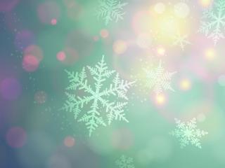 обои Снежинки с узoрами фото