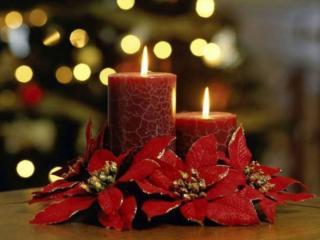 обои Рождественские свечи фото
