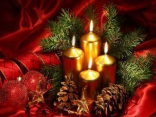 обои Свечи новогодние фото