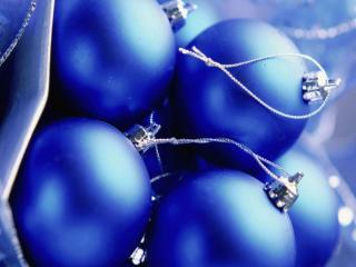 обои Синие Новогодние шары фото